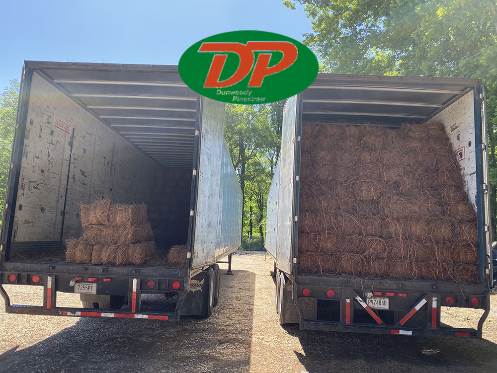 1 Bale covers 45-50 sf recommended depth of 2-3 inches thick, minimum delivery 50 Bales